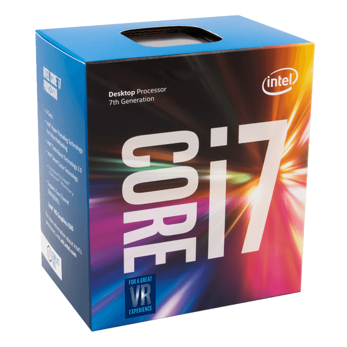 Core i7-7700 Quad-Core 3.6 - 4.2GHz Turbo, HD Graphics 630, LGA 1151, 8MB L3 Cache, DDR3L / DDR4, 14nm, 65W, Retail Processor