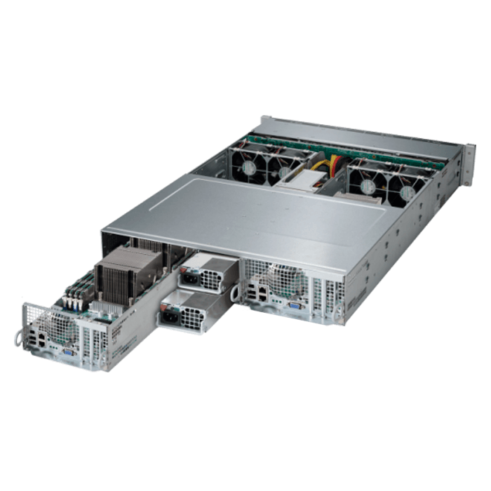 2U Rack Server - 2028TP-DTFR Quad Xeon® E5-2600 v3/v4 SATA Series 2-Node Server System