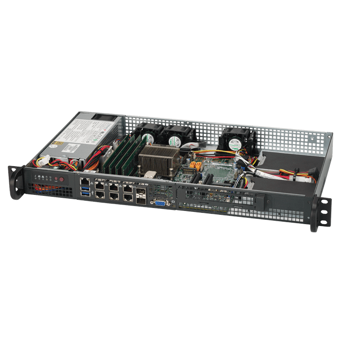 1U Rack Server - Supermicro® SuperServer 5018D-FN8T Xeon® D-1518 Server System