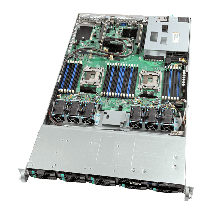 1U Rack Server - Intel R1208WT2GSR Xeon® E5-2600 v3/v4 SAS/SATA Series Server System