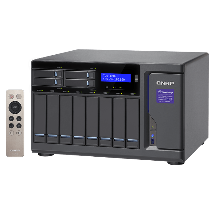 QNAP - TVS-1282 Intel® Core™ i7-6700 12-Bay SATA NAS Server Storage System