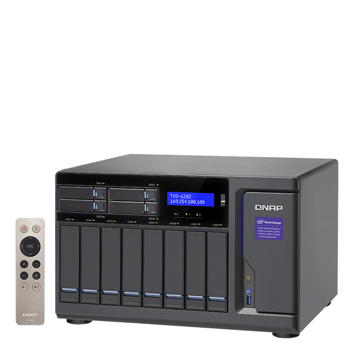 QNAP - TVS-1282 Intel® Core™ i5-6500 12-Bay SATA NAS Server Storage System