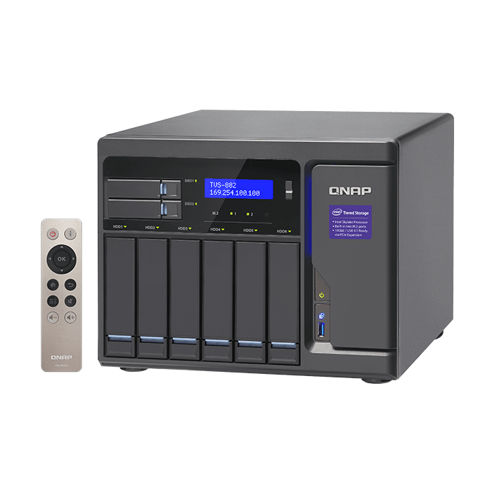 QNAP - TVS-882 Intel® Core™ i5-6500 8-Bay SATA NAS Server Storage System