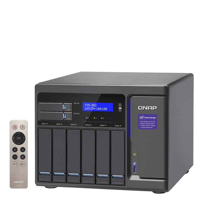 QNAP - TVS-882 Intel® Core™ i3-6100 8-Bay SATA NAS Server Storage System