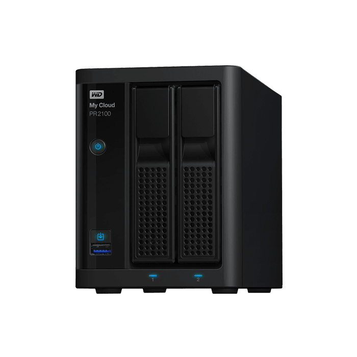 Western Digital - My Cloud Pro Series PR2100 Intel® Pentium™ N3710 2-Bay SATA NAS Server Storage System