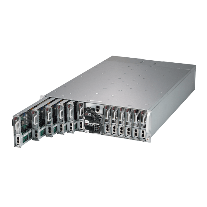 3U Rack Server - Supermicro 5039MS-H12TRF Xeon® E3-1200 V5 / Core i3 SATA/NVMe Series 12-Node MicroCloud™ Server System