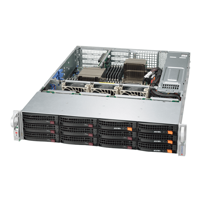 2U Rack Server - 6027R-CDNRT+ Xeon® E5-2600 v2 SAS/SATA/NVMe Series Server System