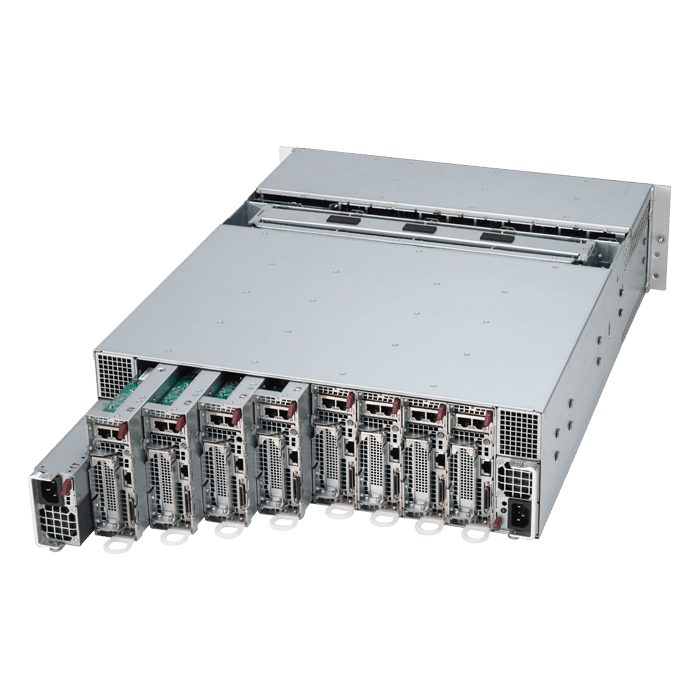 3U Rack Server - Supermicro 5039MS-H8TRF Xeon® E3-1200 v5 SATA Series 8-Node MicroCloud™ Server System