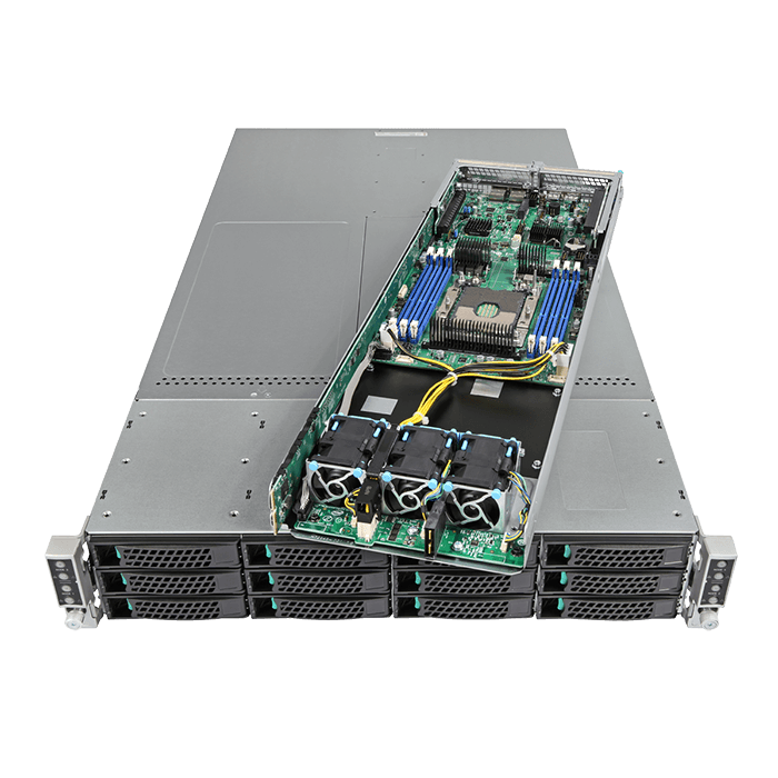 2U Rack Server - Intel LADMP2312KXXX44 Xeon® Phi™ Processor 7210 SATA Series Server System