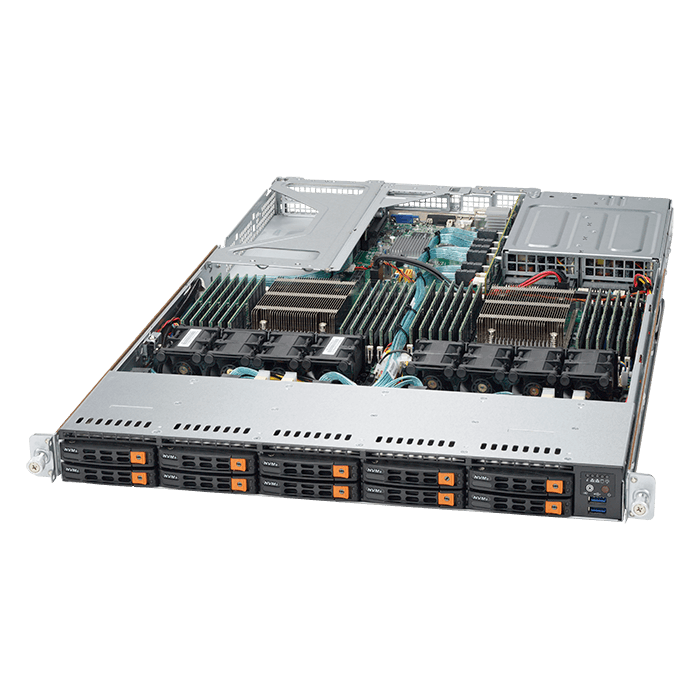 1U Rack Server - Supermicro SuperServer Ultra 1028U-TN10RT+ Dual Xeon® E5-2600 v4 NVMe 1U Rackmount Server Computer
