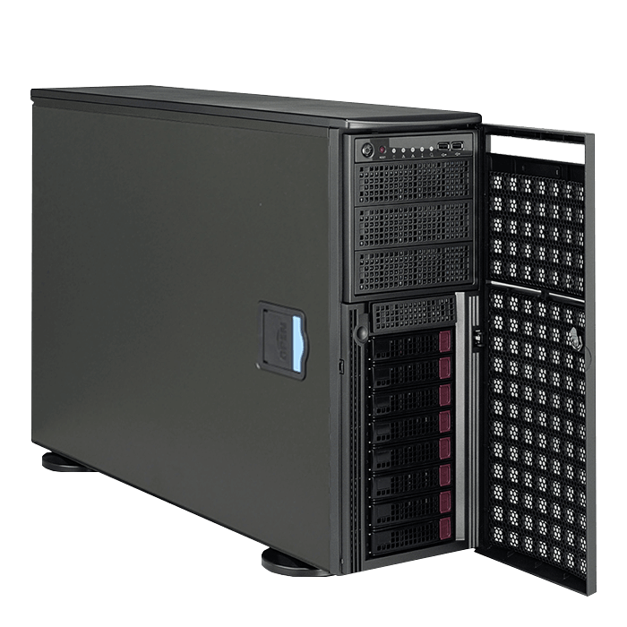Workstation PC - Supermicro® SuperWorkstation 7048GR-TR GPU Dual Xeon® E5 SATA 4U Rack/Tower Workstation