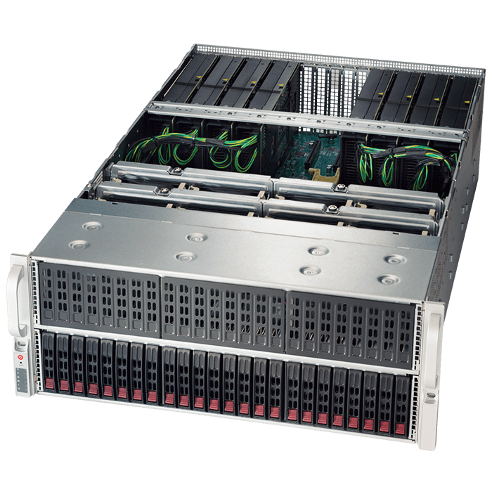 Supermicro® SuperServer 4027GR-TRT Dual Xeon® E5 SATA Series 4U Rack Server