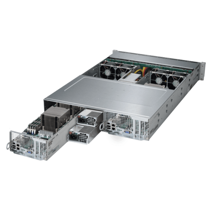 2U Rack Server - 2028TP-DTTR Quad Xeon® E5-2600 v3/v4 SATA Series 2-Node Server System