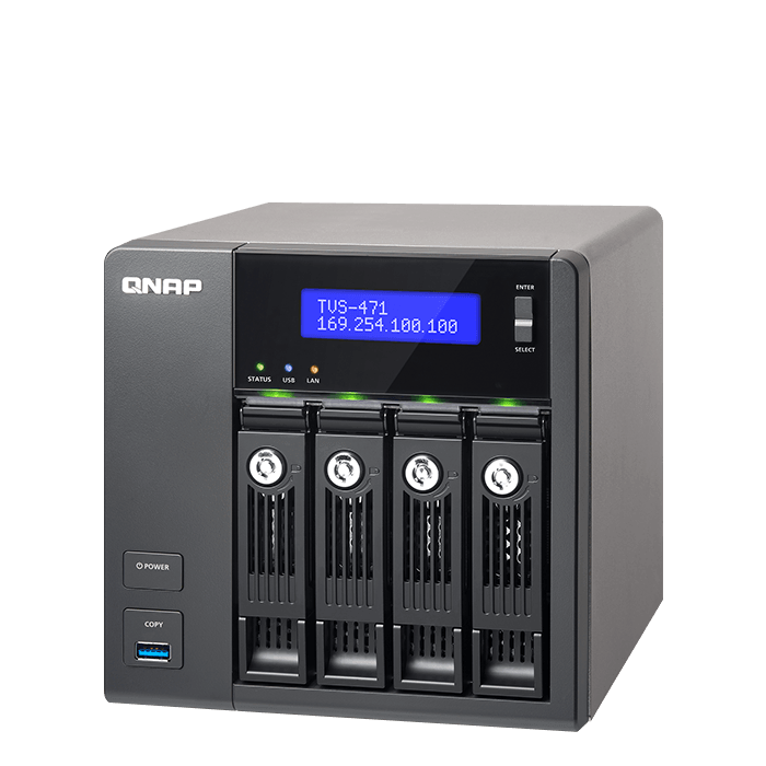 QNAP - TVS 471 4-Bay SATA NAS Server Storage System