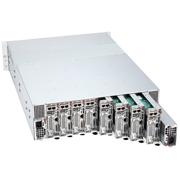 3U Rack Server - Supermicro 5038MR-H8TRF Xeon® E3-2600/1600 v3/v4 SATA/SAS Series 8-Node MicroCloud™ Server System