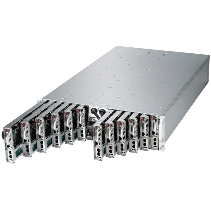 3U Rack Server - Supermicro A+ Server 3012MA-H12TRF AMD Opteron™ 3300 Series 12-Node MicroCloud™ Server System