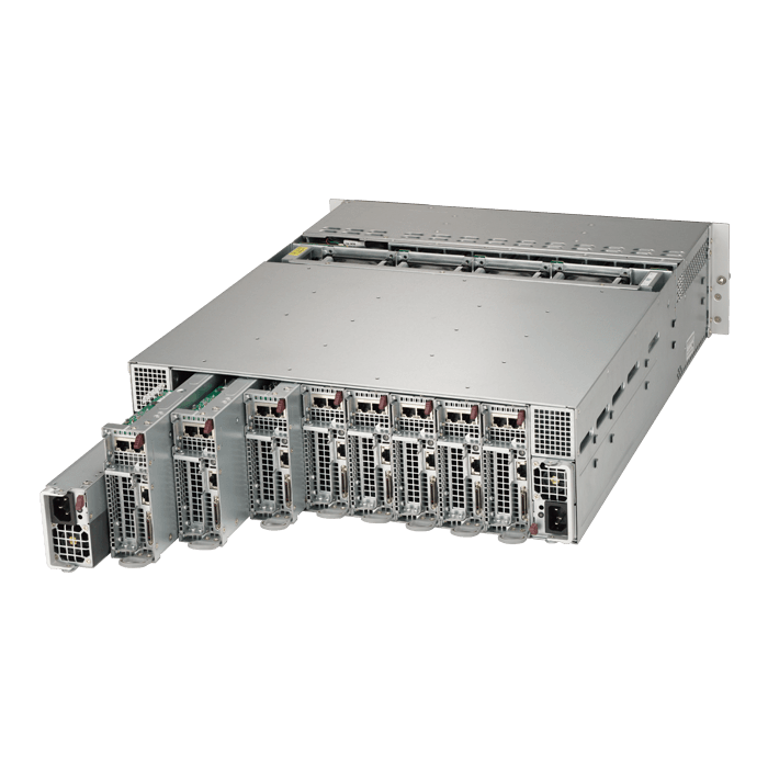 3U Rack Server - Supermicro 5038MD-H8TRF Xeon® D-1541 SATA/SAS Series 8-Node MicroCloud™ Server System