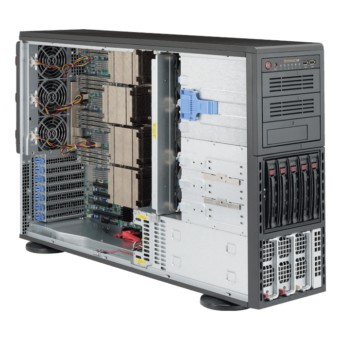 8048B-C0R4FT Quad Xeon® E7-8800 v3 / E7-4800 v3 SAS/SATA 4U Rack/Tower Server