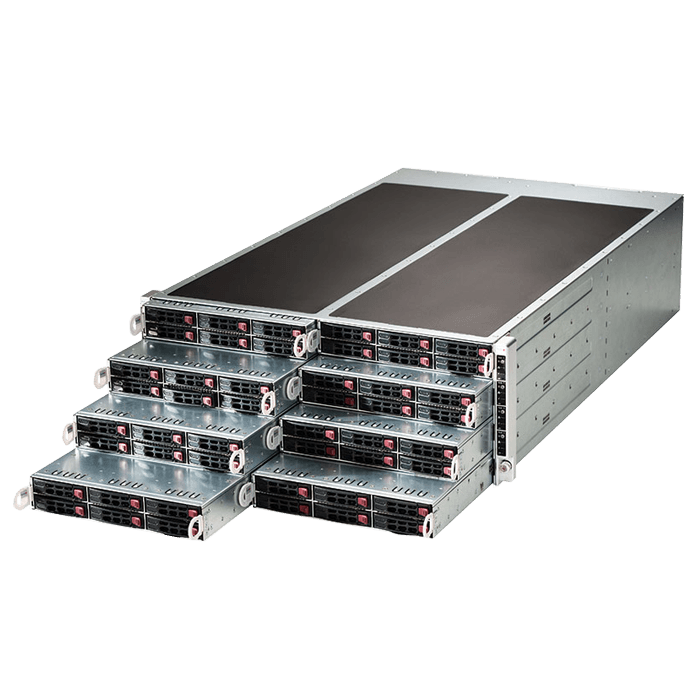4U Rack Server - F618R2-RC1PT+ Sixteen Xeon® E5-2600 v3/v4 NVMe/SAS/SATA Series 4U Rack Server