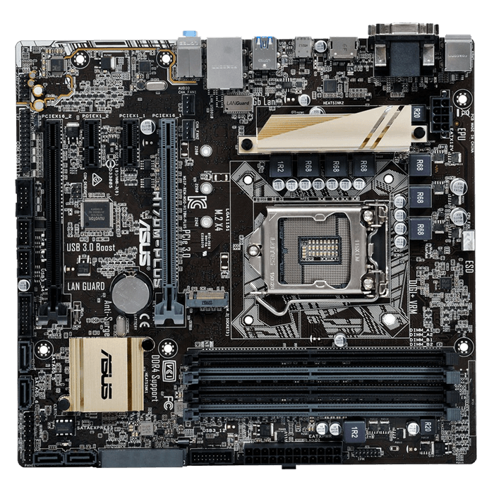 ASUS H170M-PLUS/CSM Intel H170 Chipset Micro ATX ...