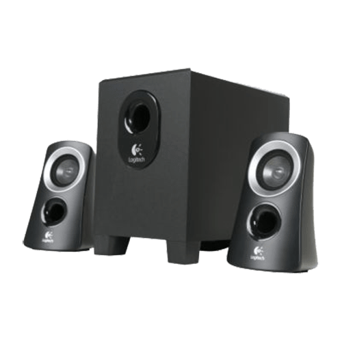 logitech z313 2 1 25w rms black speaker system avadirect. Black Bedroom Furniture Sets. Home Design Ideas