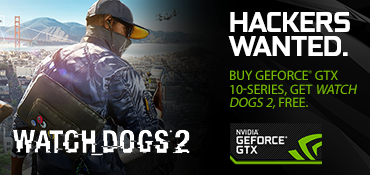 Purchase a qualifying Desktop or Laptop and receive a free copy of Watch Dogs 2