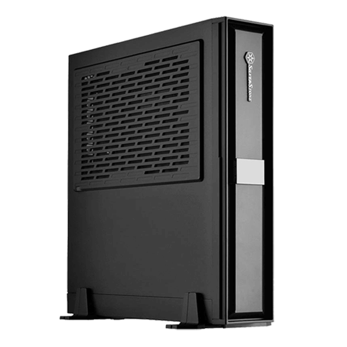 Milo Series SST-ML08 No PSU, Mini-ITX, Black, Slim Case
