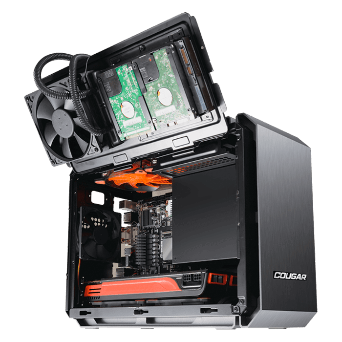 QBX, No PSU, Mini-ITX, Black, Mini Tower Case