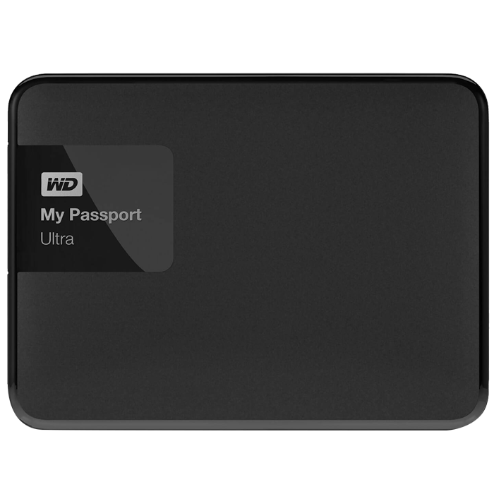 1TB My Passport Ultra, USB 3.0, Premium Portable, Black, External Hard Drive