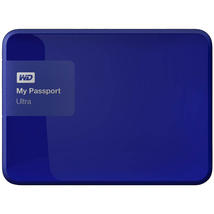 1TB My Passport Ultra, USB 3.0, Premium Portable, Blue, External Hard Drive