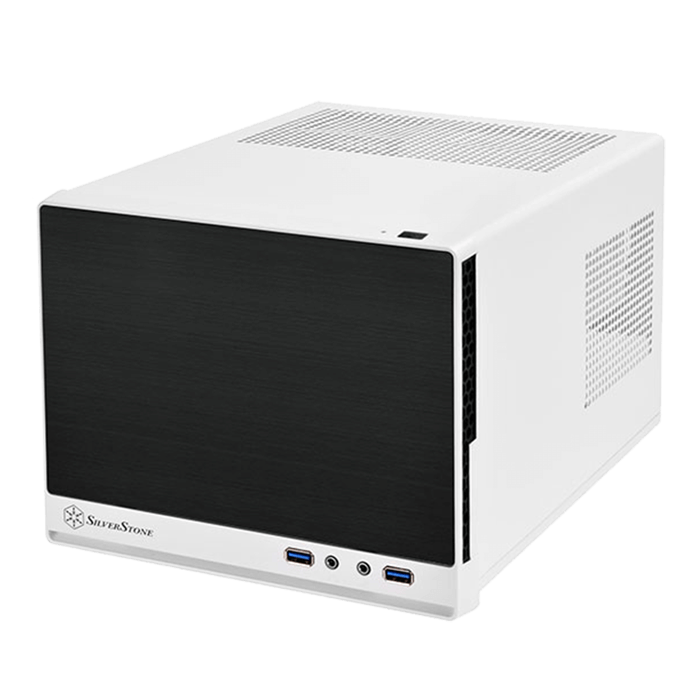 Sugo Series SST-SG13WB-Q, No PSU, Mini-ITX, White/Black, Mini Cube Case
