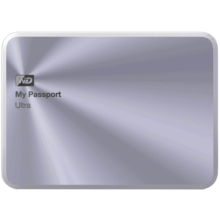 3TB My Passport Ultra Metal, USB 3.0, Premium Portable, Silver, External Hard Drive