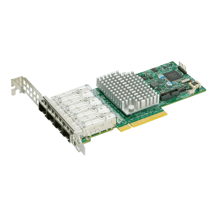 10Gbps Ethernet Network Adapter, AOC-STG-I4S, (4x SFP+)