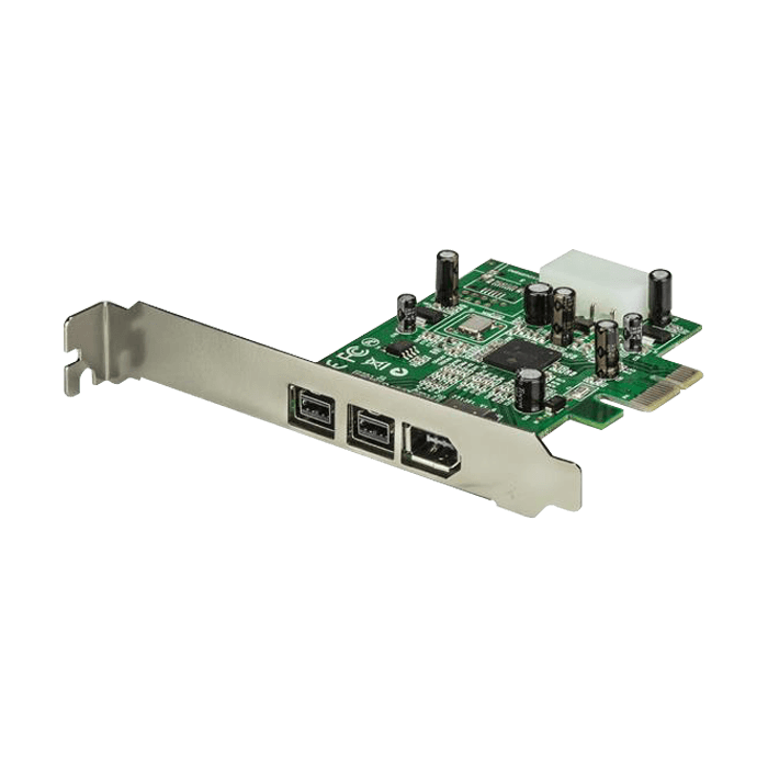 IEEE-1394/FireWire Card, 2/1 ports 800/400Mbps, PCIe, Retail