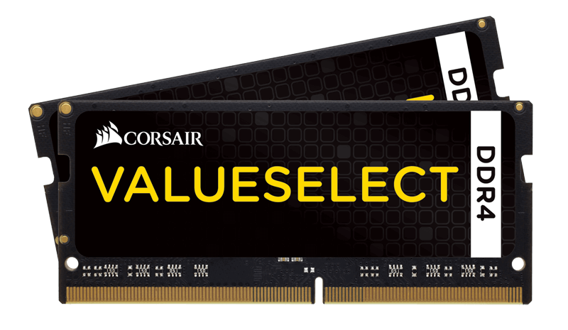 16GB Kit (2 x 8GB) ValueSelect DDR4 2133MHz, CL15, SO-DIMM Memory