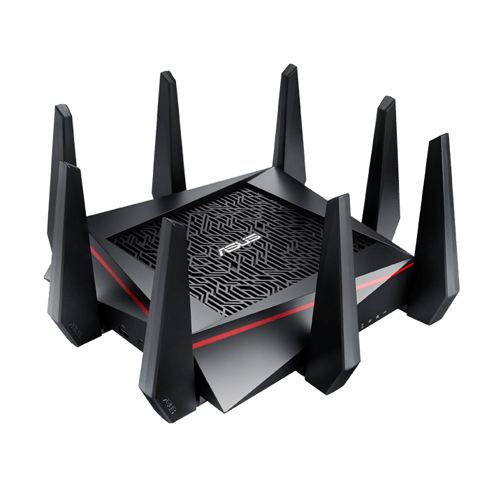 RT-AC5300, IEEE 802.11ac, Tri-Band 2.4 / 5 / 5GHz, 1000 / 2167 / 2167 Mbps, 4xRJ45, Retail Wireless Router