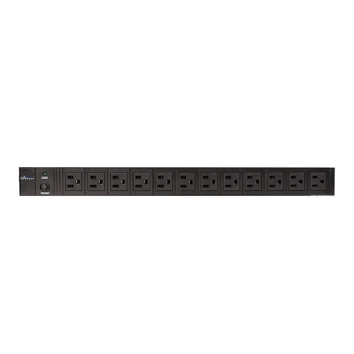 CP-PD012, 12 Outlets, 12-ft cord, Black, Power Distribution Unit