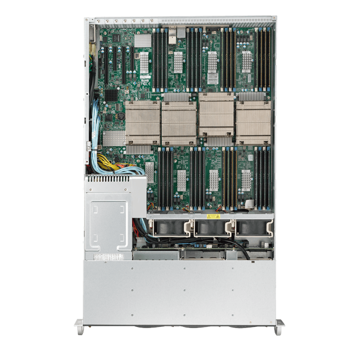 SuperServer 8028B-C0R4FT, 2U, Intel C602J, 6x SAS, LSI 3008 12Gbps SAS, 32x DDR4, Dual 10Gb Ethernet, 1400W Rdt PSU