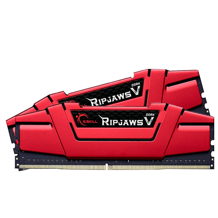 16GB Kit (2 x 8GB) Ripjaws V DDR4 2400MHz, CL15, Red, DIMM Memory