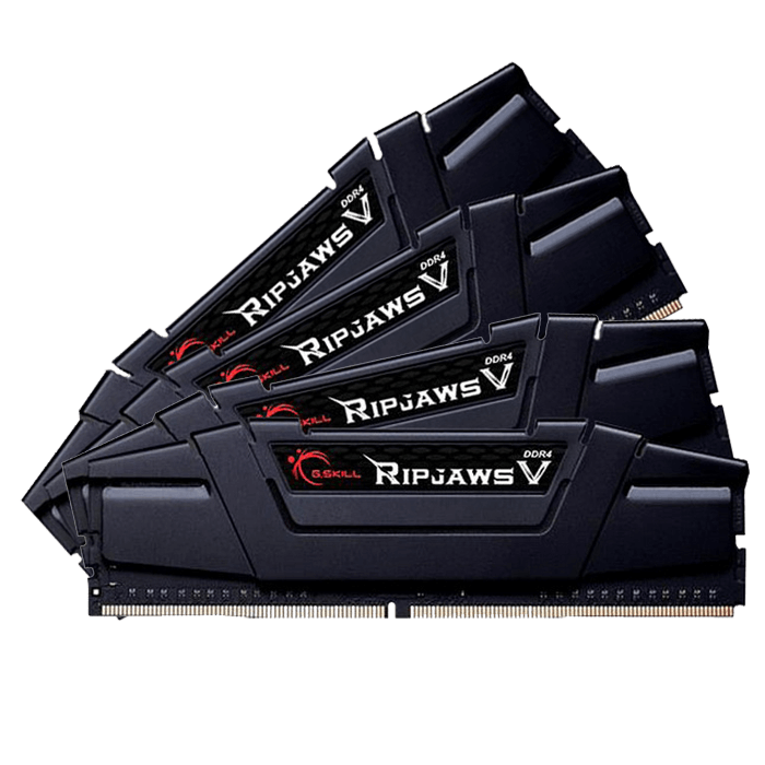 32GB Kit (4 x 8GB) Ripjaws V DDR4 3400MHz, CL16, Black, DIMM Memory