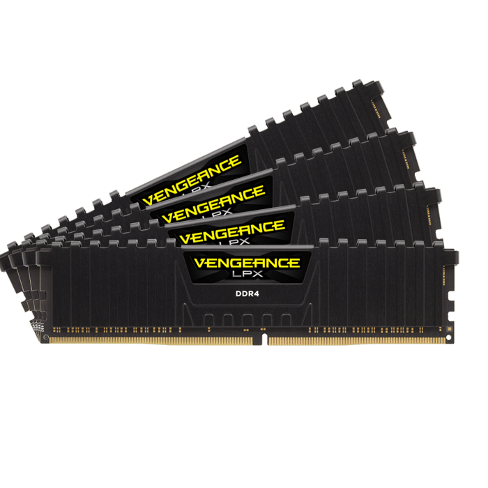 64GB Kit (4 x 16GB) Vengeance LPX DDR4 2400MHz, CL14, Black, DIMM Memory