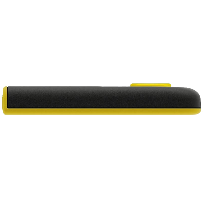 DashDrive UV128, 64GB, High-Speed USB 3.0 Capless USB Flash Drive, Yellow/Black, Retail