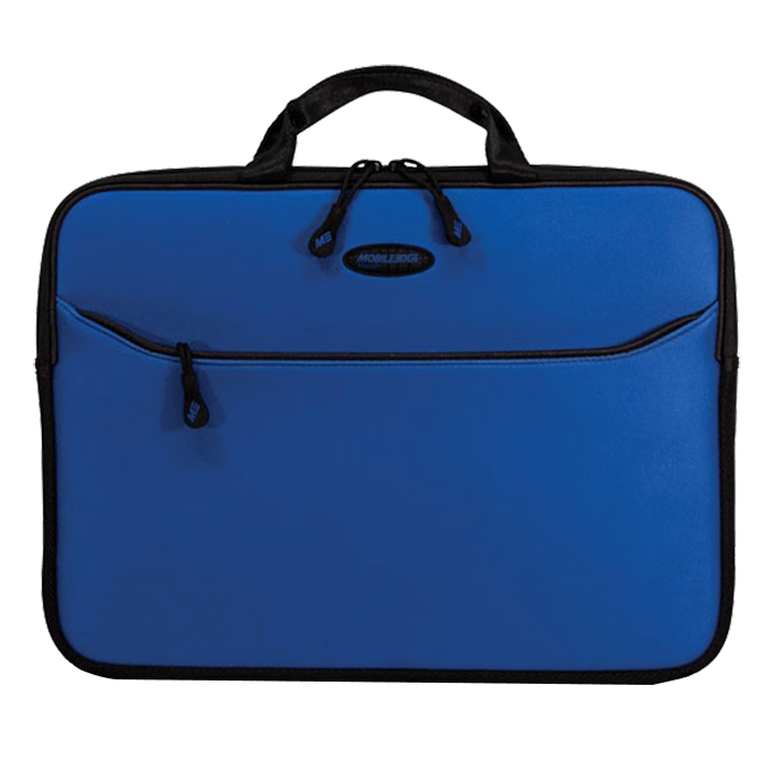 "SlipSuit Sleeve (Royal Blue) 16"", Cushioned EVA, Black-Blue, Bag Carrying Case"