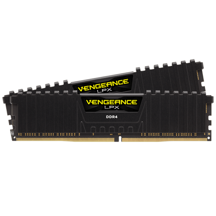32GB Kit (2 x 16GB) Vengeance LPX DDR4 2400MHz, CL16, Black, DIMM Memory