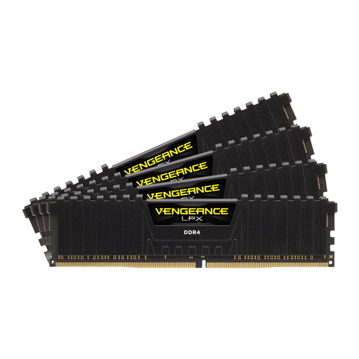32GB Kit (4 x 8GB) Vengeance LPX DDR4 3000MHz, CL15, Black, DIMM Memory