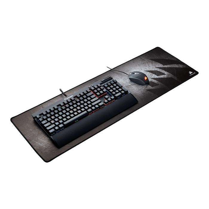 MM300 (Extended), Anti-Fray, Cloth, Grey/Black, Gaming Mouse Mat
