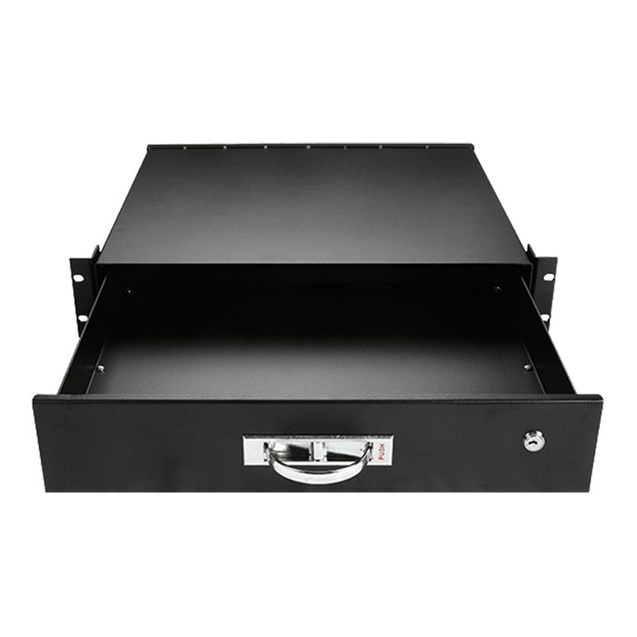 WA-DWR2UB 2U Sliding Drawer with Key Lock