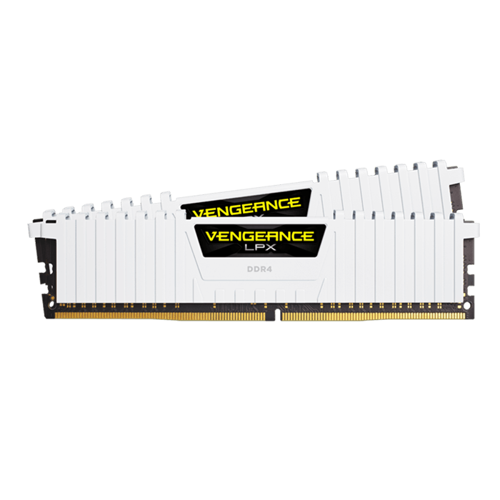 16GB Kit (2 x 8GB) Vengeance LPX DDR4 2666MHz, CL16, White, DIMM Memory