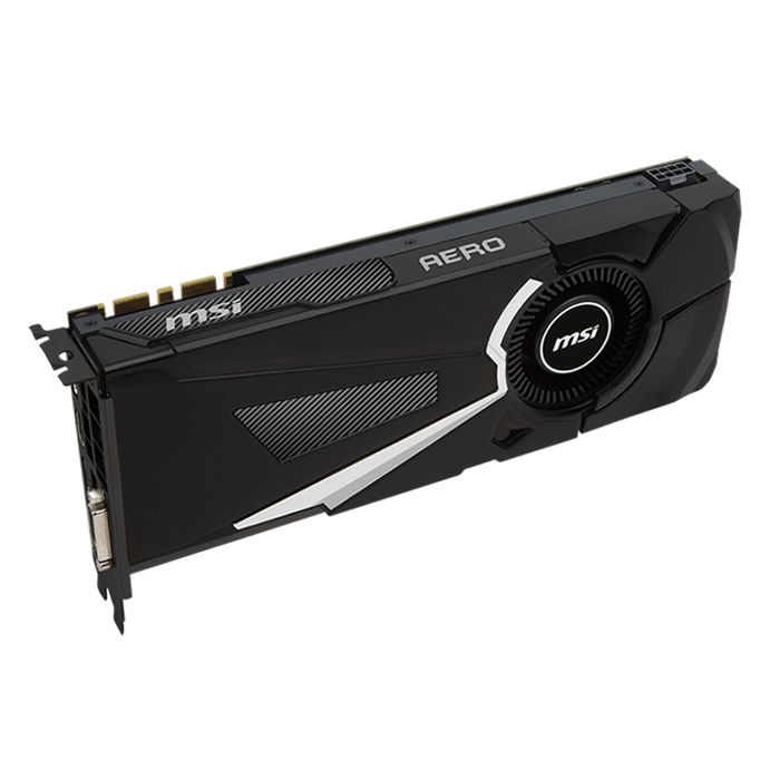 GeForce GTX 1080 AERO 8G OC, 1632 - 1771MHz, 8GB GDDR5X, Graphics Card