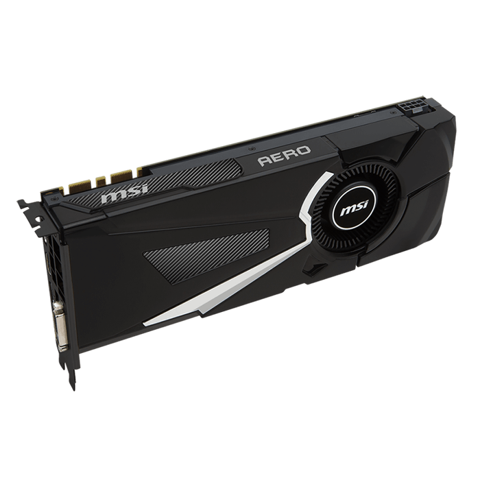 GeForce GTX 1070 AERO OC, 1531 - 1721MHz, 8GB GDDR5, Graphics Card